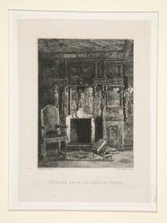 Cheminée de la galerie de chêne (Fireplace in the Oak Gallery), pl. 7 from the suite Chez Victor Hugo (Victor Hugo's House)