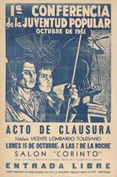 1a Conferencia de la Juventud Popular, octubre de 1951 . . . (1st Popular Youth Conference, October 1951 . . . )