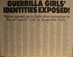 Guerrilla Girls' identities exposed!, from the Guerrilla Girls' Compleat 1985-2008