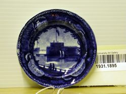 Cup Plate with a View of Castle Garden, Battery, New York