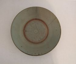 Large plate with gray glaze
