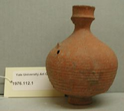 Jug with horizontally ribbed body