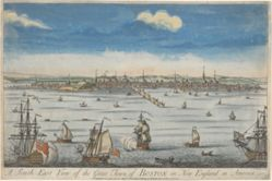 A South East View of the Great Town of Boston in New England. . .