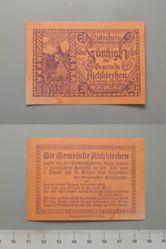50 Heller from Aichkirchen, redeemable 31 January 1921, Notgeld