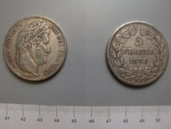 5 Francs from Strasbourg with Louis Philippe I, King of the French