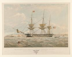 """The United-States Frigate """"St. Lawrence"""". . . 50 Guns"""