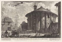 Veduta del Tempio di Cibele a Piazza della Bocca della Verità (View of the Temple of Cybele in the Piazza of the Bocca della Verità), from Vedute di Roma (Views of Rome)
