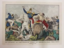 Col. Harney at the Dragoon Fight at Madelin, Near Vera Cruz, March 25th 1847
