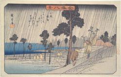 Night Rain at Koizumi: The Eight Views of Kanazawa