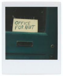 "Untitled [Sign in Door: ""Office for Rant""]"