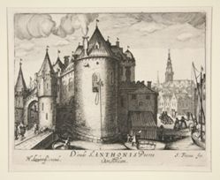 D'oude St.  Anthonis Poorte, t' Amsterdam (The Old Saint  Anthony's Gate, Amsterdam)