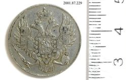 Platinum 3 rubles of Nicholas I