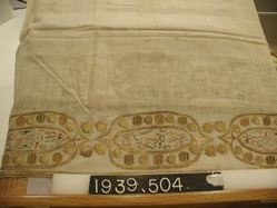 Towel, plain cloth, embroidered