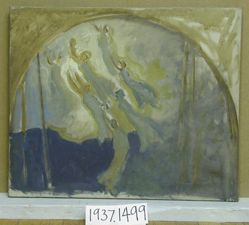 Compositional Study, for The Spirit of Light, Rotunda, Pennsylvania State Capitol, Harrisburg