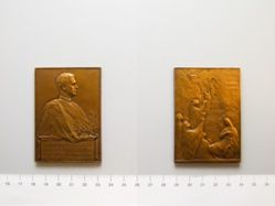Belgian Plaquette for the 150th Anniversary of the Belgian Academy of Sciences, Letters and Arts