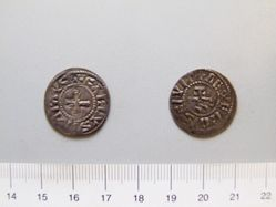 Silver denier of Charles II from Nevers