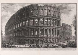 Veduta dell'Anfiteatro Favio, detto il Colosseo (View of the Flavian Amphitheater, called the Colosseum), from Vedute di Roma (Views of Rome)