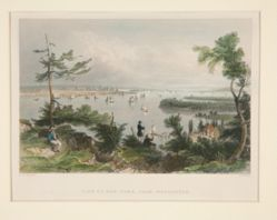 View of New York, from Weehawken, illustration for Nathaniel Parker Willis's book American Scenery, Vol. II, opposite p. 30