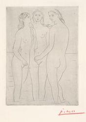 Les Trois Baigneuses, I (The Three Bathers, I)