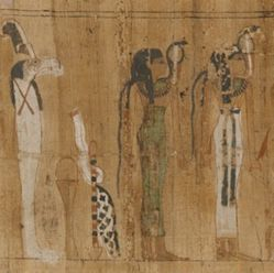 Fragment of an illustrated papyrus