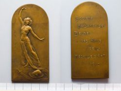Bronze Plaquette from Belgium of Salomé