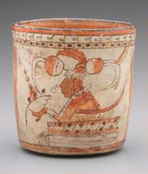 Vessel with Scribes holding Shell Paint Palettes