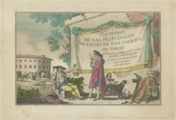 Title Plate, from the series Colección de las principales suertes de una corrida de toros (Collection of the Main Actions in a Bullfight)