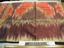 Curtain of silk ikat