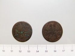 12 Heller of Leopold II, from  Aachen