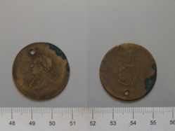 Half Penny of George IV from London