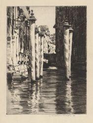 A Narrow Canal, Venice