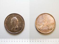 Silver memorial medal of Admiral Samuel Greig