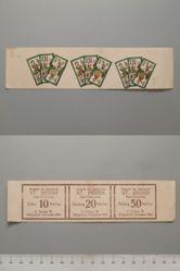 10 Heller, 20 Heller, and 50 Heller notes uncut from St. Aegidi, Notgeld