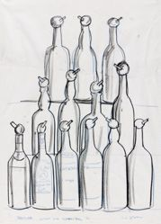 Bottles (Study for Cedar Bar)