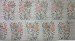Textile Fragment with Roses and Birds