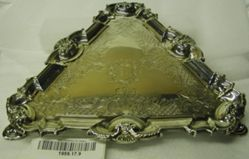 Triangular Tray with engraved coat of arms