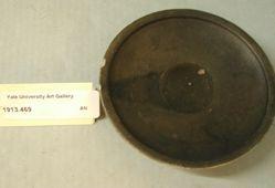 Black-glazed plate