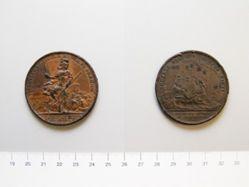 Bronze medal of François Louis Tesseidre de Fleury, the Battle of Stony Point (cast)