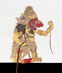 Shadow Puppet (Wayang Kulit) of Kala, from the consecrated set Kyai Nugroho