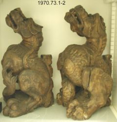 Pair of Roof Corbels in the form of Dragons