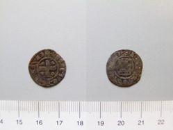 Billon denier of Guy de Lusignan from Cyprus