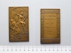 Bronze Plaquette from Belgium of Exposition Universelle et Internationale de Bruxelles