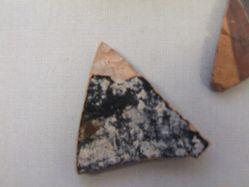 Black-glazed fragment from skyphos wall