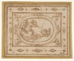 Aurora and Tithonius, study for a stage decoration for a performance of Aretino's La Talenta