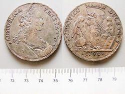 Silver Tallero of Ludovico Manin from Venice