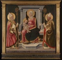 Virgin and Child Enthroned with Saints Martin of Tours and Blaise