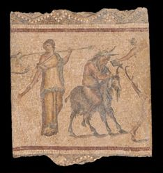 Mosaic Fragment with a Dionysiac Procession