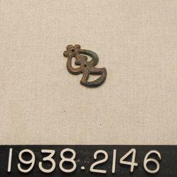 Pierced Bronze Strap Ornament Decoration Copper alloy attachment loop