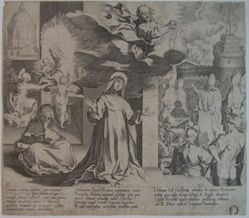 Plate 10, from the series, Life and Miracles of Saint Catherine of Siena