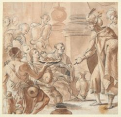 Joseph Distributing Wheat